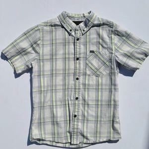 Hurley Boys Plaid Button-up Short-Sleeve Shirt